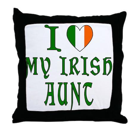 I Love My Irish Aunt Throw Pillow