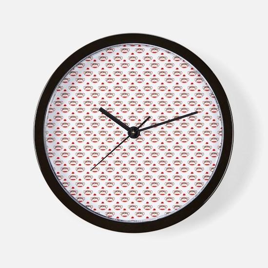robinsampson_cu_papers_sock_monkey01 Wall Clock