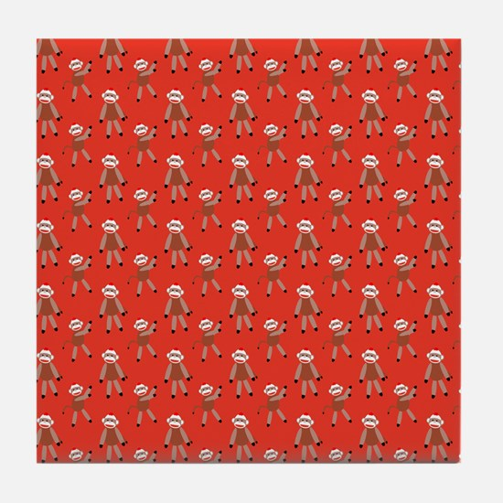 robinsampson_cu_papers_sock_monkey03 Tile Coaster