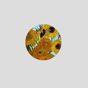 Btn VG Sunflowers Mini Button
