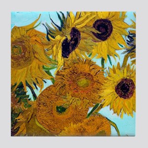 Btn VG Sunflowers Tile Coaster