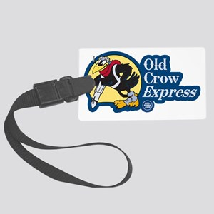 Old Crow Express Nose Art Large Luggage Tag