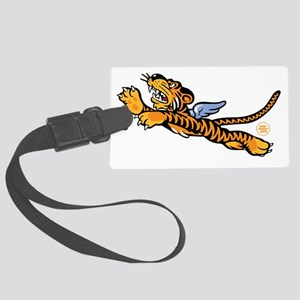 Flying Tigers WW2 Nose Art Large Luggage Tag