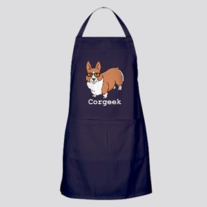 Corgeek White Apron (dark)