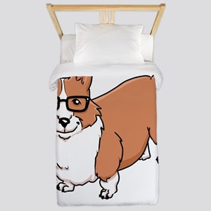 Corgeek White Twin Duvet