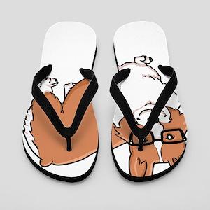 Corgeek White Flip Flops