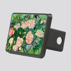 GC VG Pink Roses Rectangular Hitch Cover