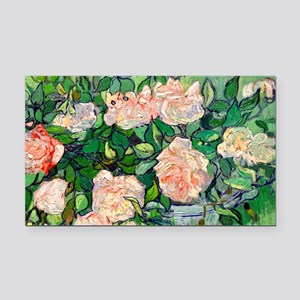 GC VG Pink Roses Rectangle Car Magnet