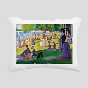 PC Seurat Jatte Rectangular Canvas Pillow