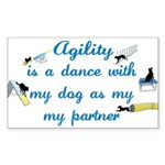 Agility Dance Rectangle Sticker