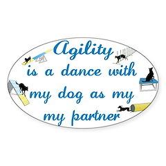 Agility Dance Oval Decal