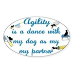 Agility Dance Oval Sticker
