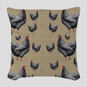 flipflops-chick6 Woven Throw Pillow