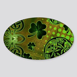 IRISH-BEACH-TOTE Sticker (Oval)