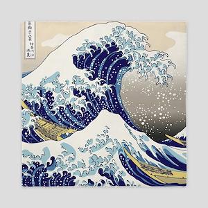Hokusai_Great_WaveShowerCurtain2 Queen Duvet