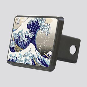 Hokusai_Great_WaveShowerCu Rectangular Hitch Cover