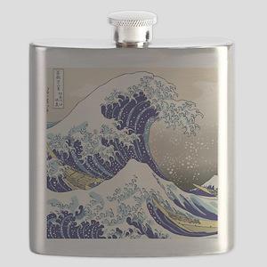 Hokusai_Great_WaveShowerCurtain2 Flask