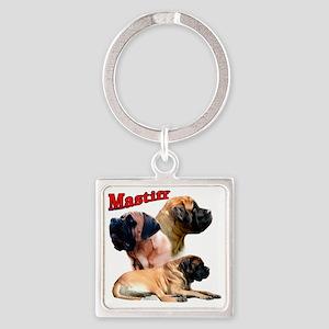 MastiffapricotTrio2 Square Keychain