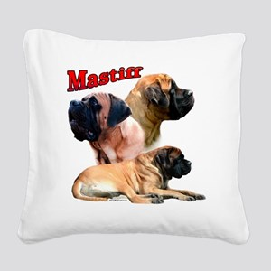 MastiffapricotTrio2 Square Canvas Pillow