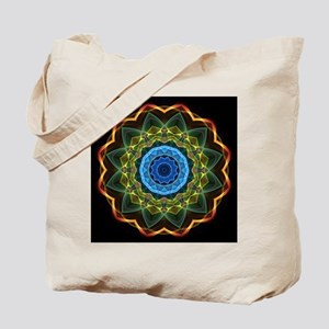 Sky and Leaves Kaleidoscope Tote Bag