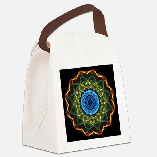 Sky and Leaves Kaleidoscope Canvas Lunch Bag