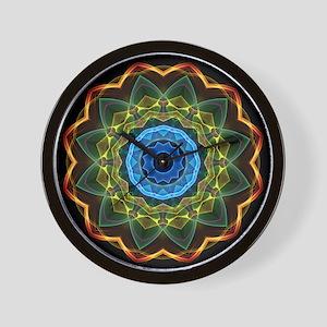 Sky and Leaves Kaleidoscope Wall Clock