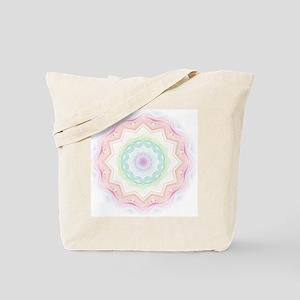 Soft Rainbow Spirograph Tote Bag