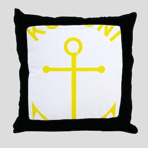 koroni-harbour-anchor-yellow Throw Pillow