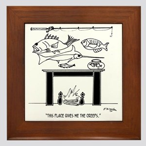 3386_fishing_cartoon Framed Tile
