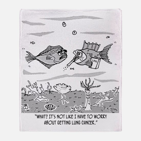2522_cancer_cartoon Throw Blanket