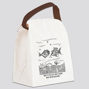 2522_cancer_cartoon Canvas Lunch Bag