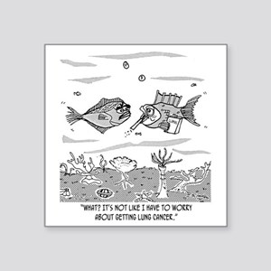 "2522_cancer_cartoon Square Sticker 3"" x 3"""