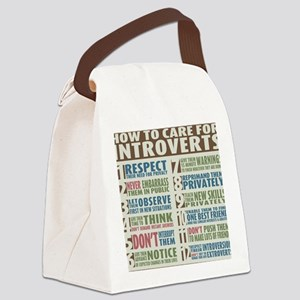 Introvert2 Canvas Lunch Bag