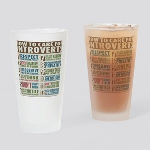 Introvert2 Drinking Glass