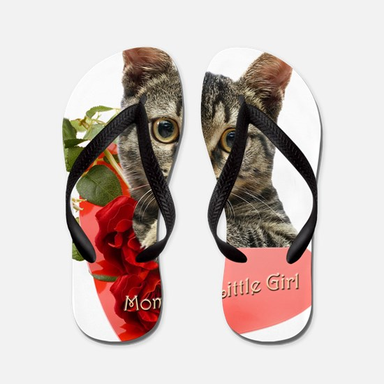 Gray Kitten Mommas Girl Flip Flops