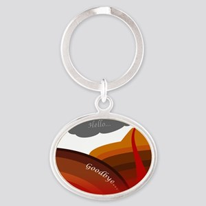subduction Oval Keychain