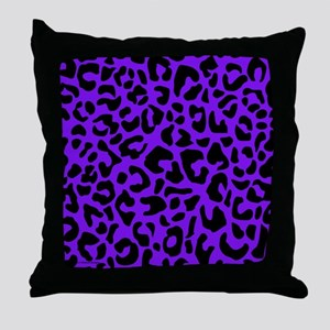 showercurtainpurpleopard Throw Pillow