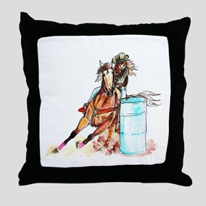 96x96_barrelracer Throw Pillow