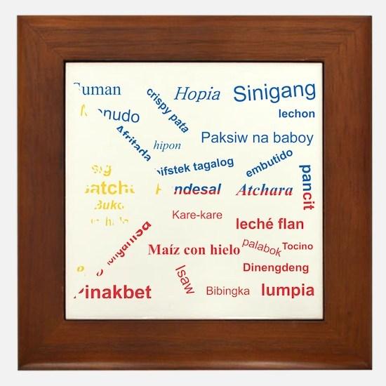 favorite words Framed Tile