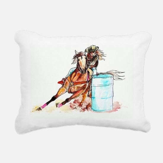 16x20h_barrelracer Rectangular Canvas Pillow