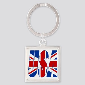 USA Square Keychain