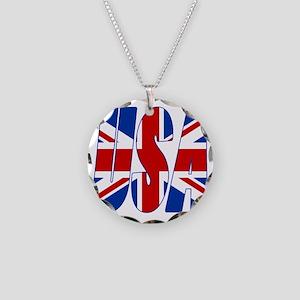 USA Necklace Circle Charm