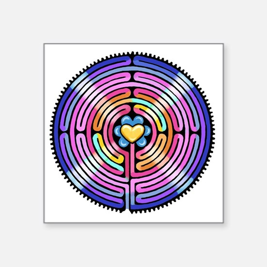 """Labyrinth4-with shine1 Square Sticker 3"""" x 3"""""""