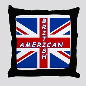 britXamerican Throw Pillow