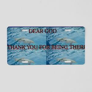 DEAR GOD Aluminum License Plate