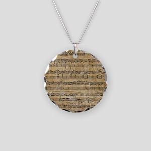 SheetMusic1 Necklace Circle Charm