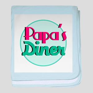 Papas Diner baby blanket