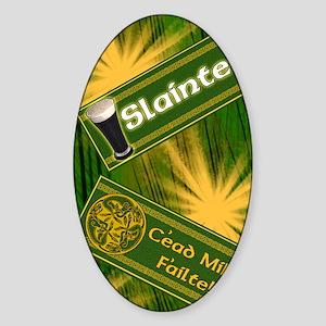 IRISH-GAELIC-KINDLE-SLEEVE Sticker (Oval)