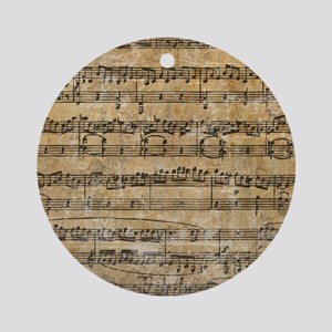 SheetMusic1FF Round Ornament