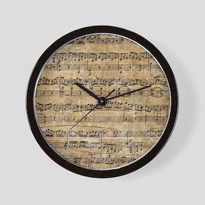 SheetMusic1FF Wall Clock